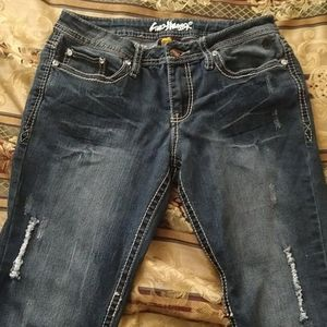 Guo Huang Distressed Skinny Jeans